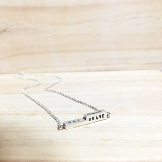 Custom Knocking <Buildings Vitamin> 925 sterling silver clavicle chain