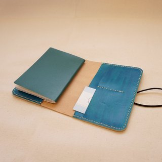 Hand dyed leather passport set notebook set - royal blue
