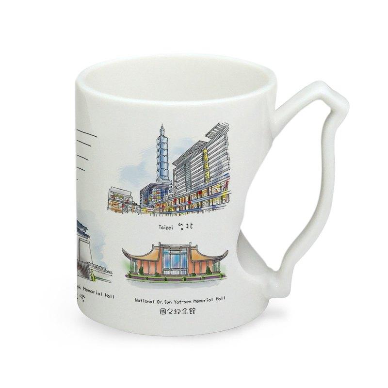 景點系列馬克杯-台北城市