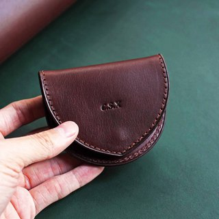 [VULCAN light and thin coin purse] Coin case Italian thin wax plant yak leather multicolor optional
