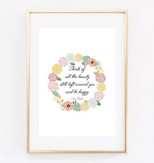 Think of all the beauty can be customized Hanging Poster