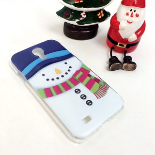 Christmas Series - White Snowman Print Soft / Hard Case for iPhone X,  iPhone 8,  iPhone 8 Plus,  iPhone 7 case, iPhone 7 Plus case, iPhone 6/6S, iPhone 6/6S Plus, Samsung Galaxy Note 7 case, Note 5 case, S7 Edge case, S7 case