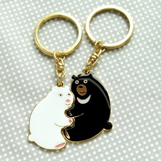 Perfect Together Key Ring- Polar Bear and Formosan Black Bear