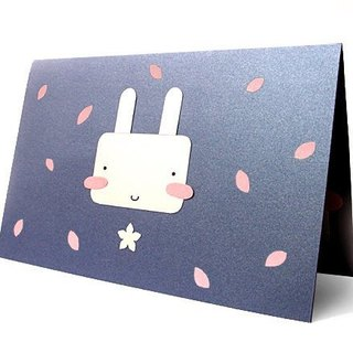 Handmade card _ cute rabbit A .... universal card, birthday card
