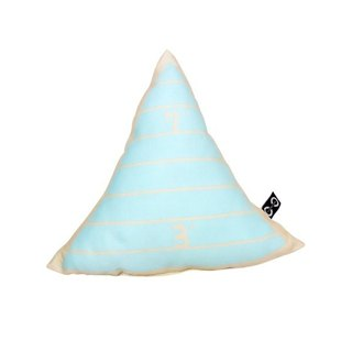 CLARECHEN Children's school nap table small pillow _ ruler triangle blue
