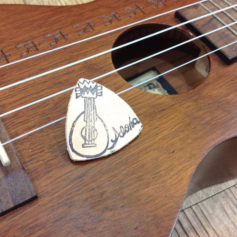 [ALOHA] Ukulele leather PICK