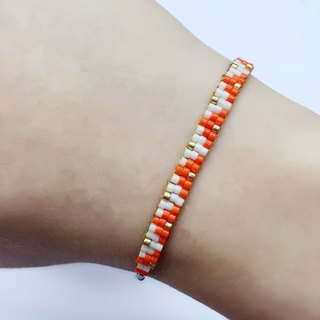 ololssim orange Golden Triangle Bracelet (1118)