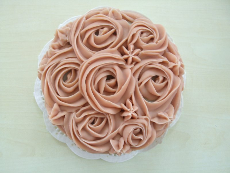 Pink and white mood 5-inch cake soap