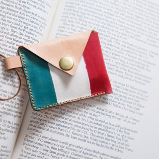 Handmade dyed - small Italian leather purse