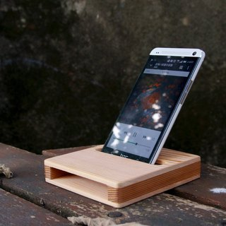 【Western Red Cedar】Cell Phone Sound Amplifier x Square Coaster