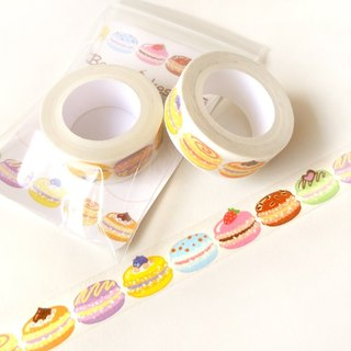 Macaron Washi Tape: Kawaii Food Washi Tape, Scrapbook Decoration, Kawaii Tape