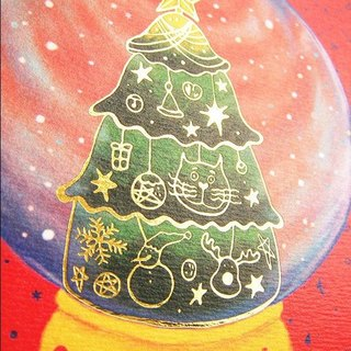 Christmas Christmas Crystal Ball Hot Stamp Card / Postcard