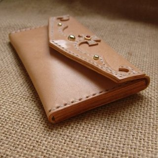 [ISSIS] classic crown molding leather colors card holder