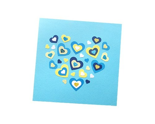 Craft Cards: happy love Universal Card D (Valentine cards, mother cards, thank you card)