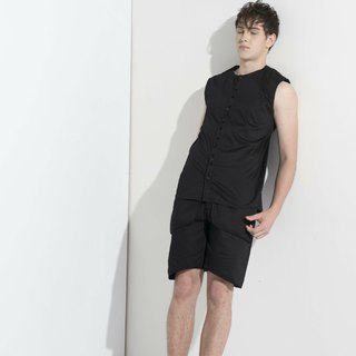 Sevenfold * Special Flap Shorts (Pockets) (Black) special flap shorts (with pockets) (Black)