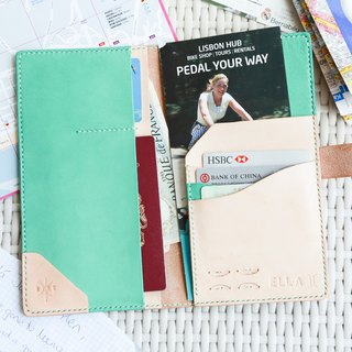hykcwyre Personalise Leather Long Passport Cover, Hand-Stitched, Personalise