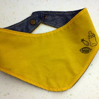 Playground_baby scarf/ bib (allowable to stamp designated English alphabet)