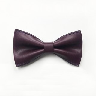 Purple leather bow tie Bowtie