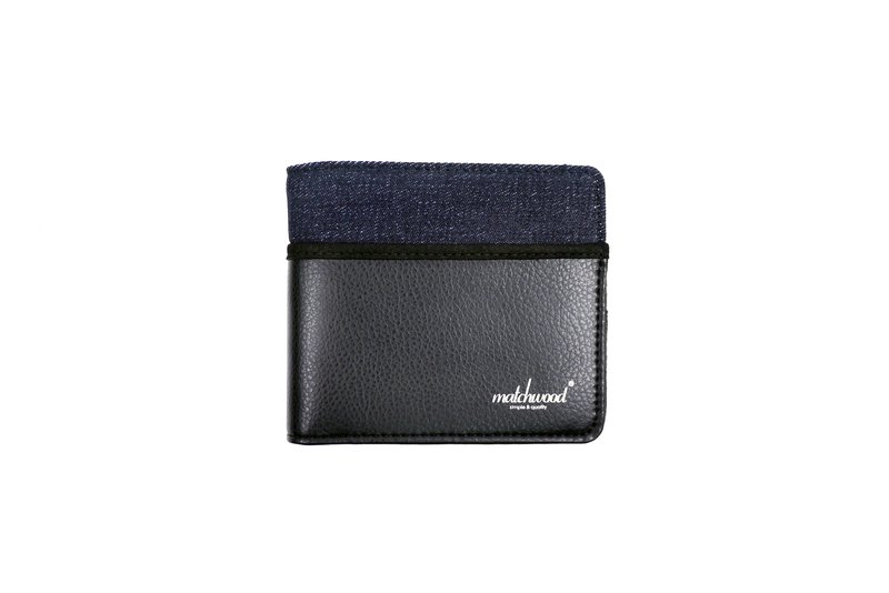 Matchwood Positive Matchwood Positive Purse Wallet Short Purse Wallet Cowboy Tannin Stitching Black
