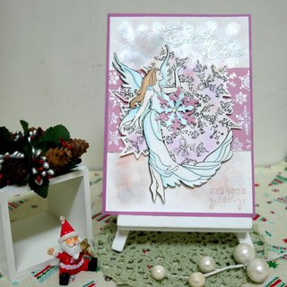 Christmas cards (greeting card) - handmade cards soothing - Purple
