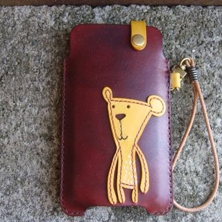 [ISSIS] Doudou Bear - all hand-made leather phone