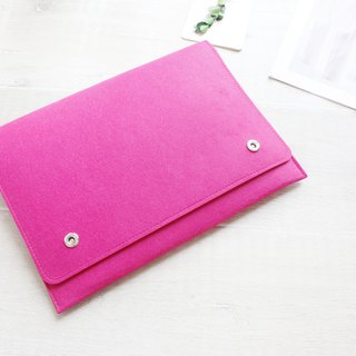 Original handmade rose red blanket Apple computer protective sleeve blanket kit MacBook Pro 13-inch laptop bag computer bag MacBook Pro 13.3 (can be tailored) - ZMY084RO13P
