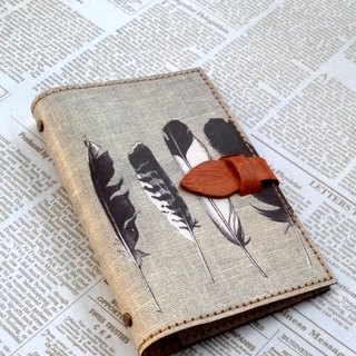 Feather Leather Binder removable Organizer / Notebook