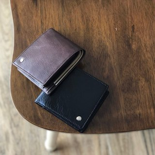 革職人 LEATHER FACTORY【Lean Bifold Wallet / Coin Packet Wallet】Made in Japan