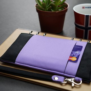 OM【BLACK X LAVENDER PURPLE】ONOR CLEANING-FIBER CELL PHONE POUCH