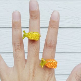 Glorikami Orange Pineapple ring, adjustable size