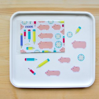 mumu PDA special stickers: small pig pen models