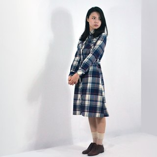 humming-格紋抽洋裝-Plaid Drawstring Shirtdress