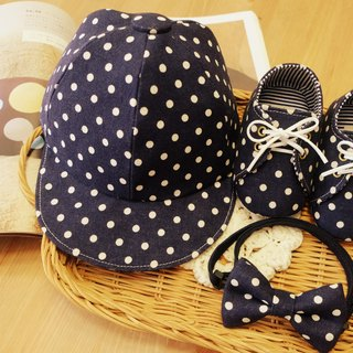 [Miya ko.] Cute hand-made cloth grocery Shuiyu little blue / strap shoes / canvas shoes / baby shoes / toddler shoes / baseball cap / hat / full moon ceremony / month indemnity gift