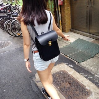 Good student vegetable tanned leather backpack