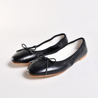 Doll shoes - KATE sheep skin black