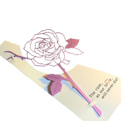 Desk + 1 │ Rose bookmark (purple)