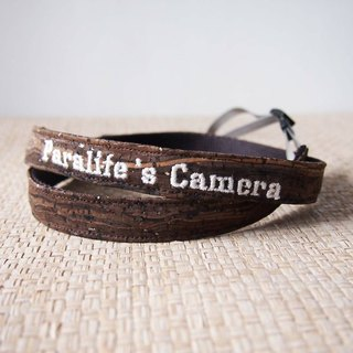 Paralife YOUR NAME's Wooden Grain Cork Camera Strap for DSLr / SLR