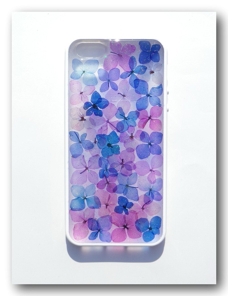 Anny's workshop hand-made pressed flower mobile phone protection shell for iphone 6, Purple Romantic Part2