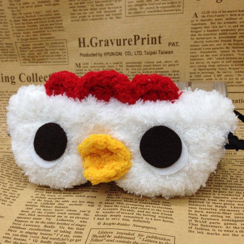 棉花糖動物眼罩-咕咕小雞
