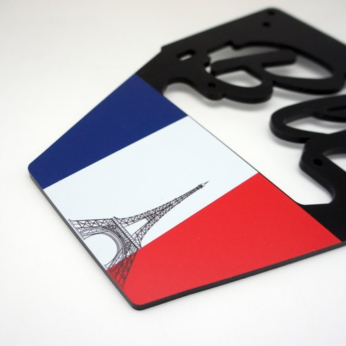 BLR License Plate Frame for Vespa [ Eiffel Tower ] AC09