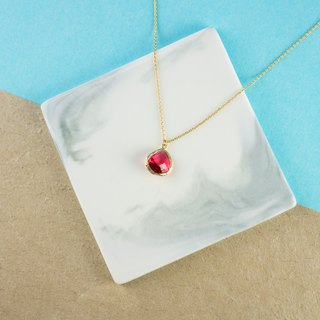 Edith & Jaz • Birthstone Collection - Ruby Quartz (July) Necklace