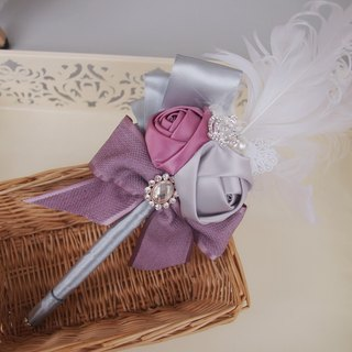 wedding guest signature pen rose