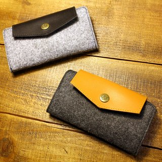 OVG wool felt protective sleeve iPhone5S (side lift)