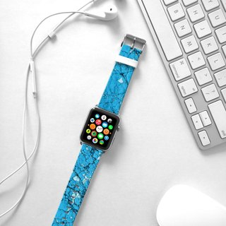 Apple Watch Series 1 , Series 2, Series 3 - Wall Blue Brick Watch Strap Band for Apple Watch / Apple Watch Sport - 38 mm / 42 mm avilable
