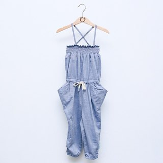 [My little star] airy organic cotton coveralls harem pants