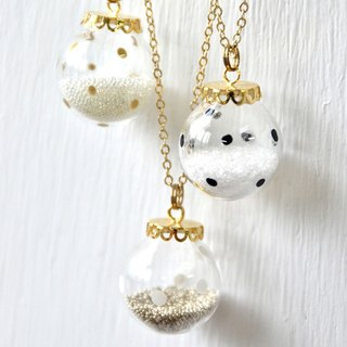BUBBLE - Polka dot bubble necklace
