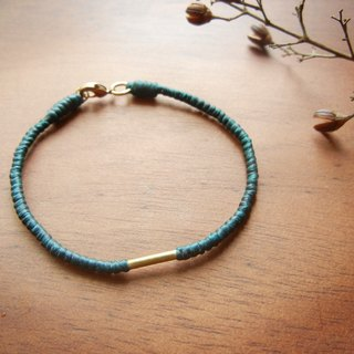 *coucoubird*silk wax braid bracelet - peacock blue