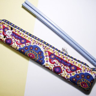 "Cheerful. ""Portable chopsticks sets / green chopsticks / chopsticks / tableware"" Versace blue"