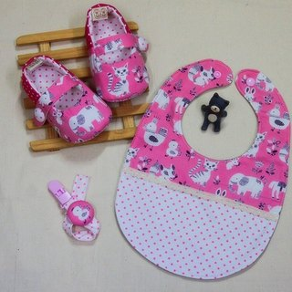 QQ Zoo (pink) shoes + bag + pacifier clip births ceremony. The full moon ceremony