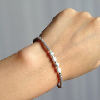 """KeepitPetite"" temperament gray, white turquoise bracelet • · Gifts"